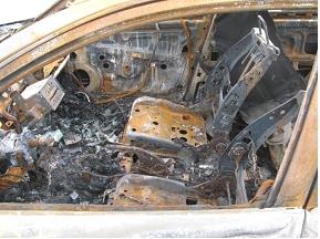 Stolen, recovered, burned
